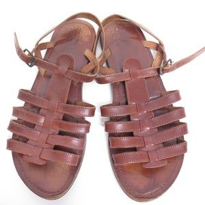 Coconuts by Matisse brown leather sandals flats 8